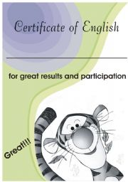 Certificate of English