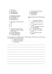 English Worksheets: Pre Intermediate Reading Comprehension Test with Grammar PAGE 2
