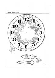 English Worksheet: Make a clock to tell the time.