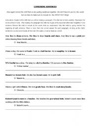 Worksheet Combining Sentences Worksheet advanced esl worksheets combining sentences english worksheet sentences