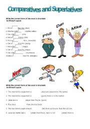 English worksheets: comparatives and superlatives worksheets, page 19