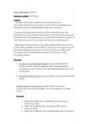 English Worksheets: lesson paln