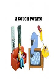 English Worksheets: couch potato