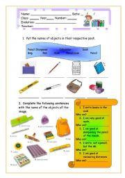 Objects of school