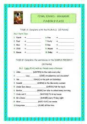 English Worksheet: GRAMMAR TEST