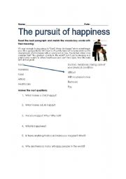 reaction paper for pursuit of happiness the movie  and not forget that independence is more readily available when people  remain focused on the fullest pursuit of their own happiness rather.