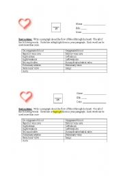English Worksheets: Blood Flow Through the Heart