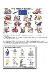 English Worksheet: Stereotypes worksheet