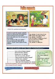 English Worksheet: Polite requests