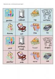 English Worksheet: British and American English - pelmanism cards - part 4