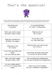 English Worksheets: That�s the question!