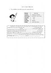 English Worksheet: Mafalda�s life