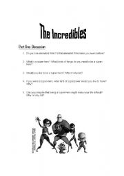 The Incredibles - Part One