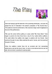 English Worksheets: The Play