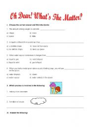 English Worksheets: Matter