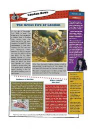 English Worksheet: The Great Fire