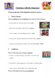 English Worksheet: Simpsons Christmas Stories