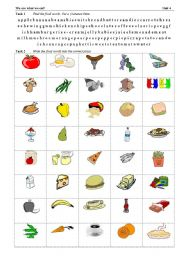 English Worksheets: food - spelling