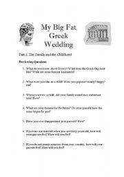 My Big Fat Greek Wedding Part A