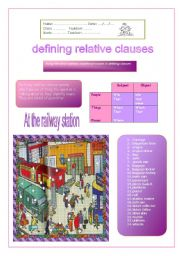 English Worksheet: At the railway station