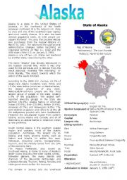 English Worksheets: ALASKA QUESTIONNAIRE
