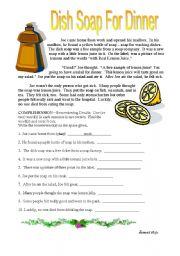 English Worksheets: Dish Soap for Dinner