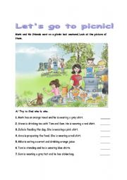 English Worksheet: picnic time 1