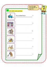 English Worksheets: Using The Five Senses - Dora and Friends (Part B)