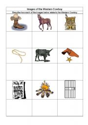 English Worksheets: Western Stuff
