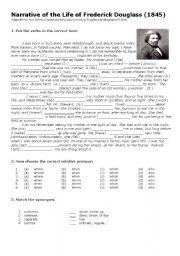Worksheet Frederick Douglass Worksheet english worksheet slave frederick douglass