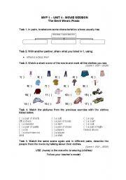 English Worksheets: The Dvil Wears Prada