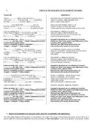 English Worksheets: WORKSHEET : Hillary Duff - wake up