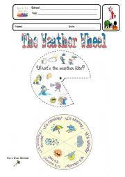 English Worksheet: The Weather Wheel