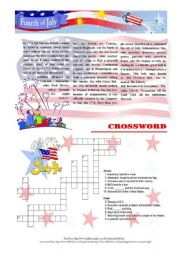 English Worksheets: 4th of July