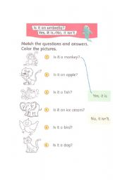 English Worksheets: Yes or No