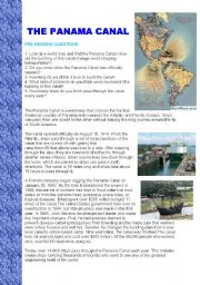 English Worksheets: The Panama Canal