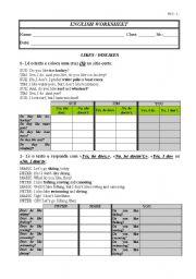 English Worksheet: Likes-Dislikes-Water Sports