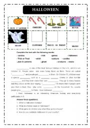 English Worksheets: HALLOWEEN TEXT
