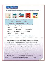 English Worksheet: Past perfect