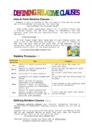 English Worksheets: Relative Clauses