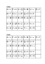 English Worksheets: Code FACE ( 1 - 4 )