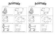 English Worksheets: Color Farm Animals