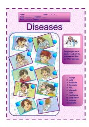 English Worksheets: Diseases