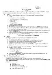 English worksheet: My Big Book
