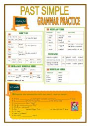 English Worksheets: PAST SIMPLE-GRAMMAR PRACTICE