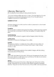 Worksheets Literary Elements Worksheet literary elements worksheet