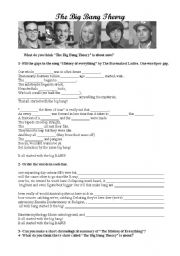 English Worksheet: The Big Bang Theory