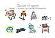 English Worksheet: Changes of energy