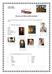 English Worksheets: Narnia - movie activity