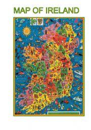 English Worksheet: Map of  Ireland